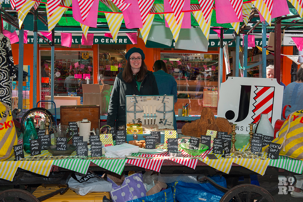 Johns London stall selling vintage and antique homeware