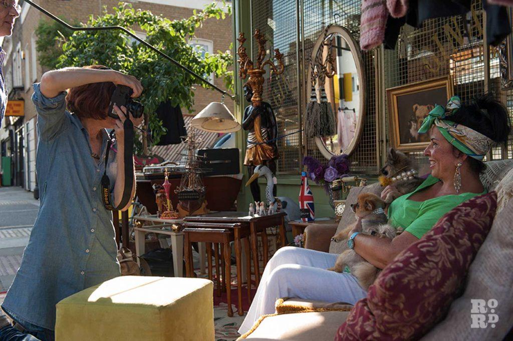 Sarah Ainslie shooting Pooch Portraits at Gina's