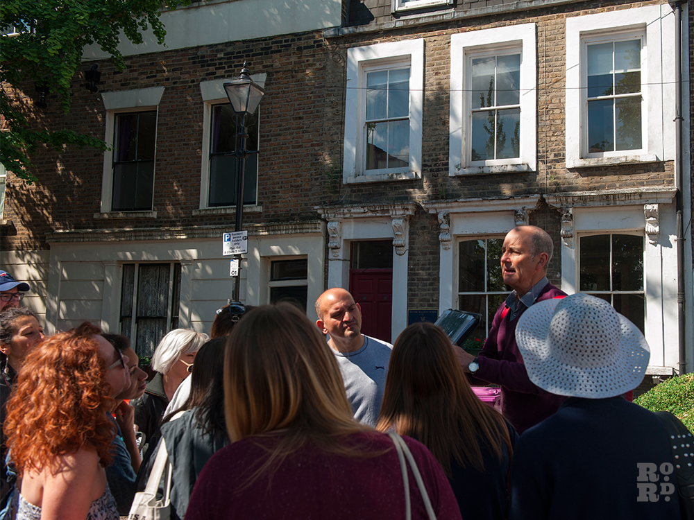 Ian Porter, East London Suffragettes tour, Roman Road Festival