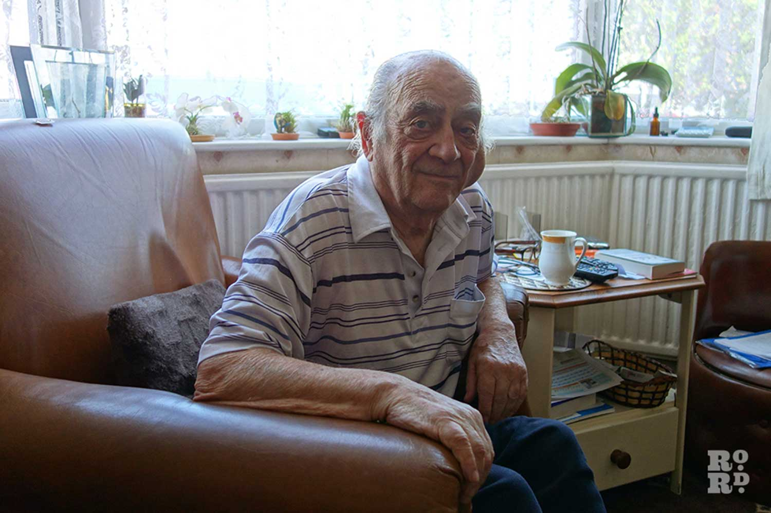Former market trader Harry da Costa at his home