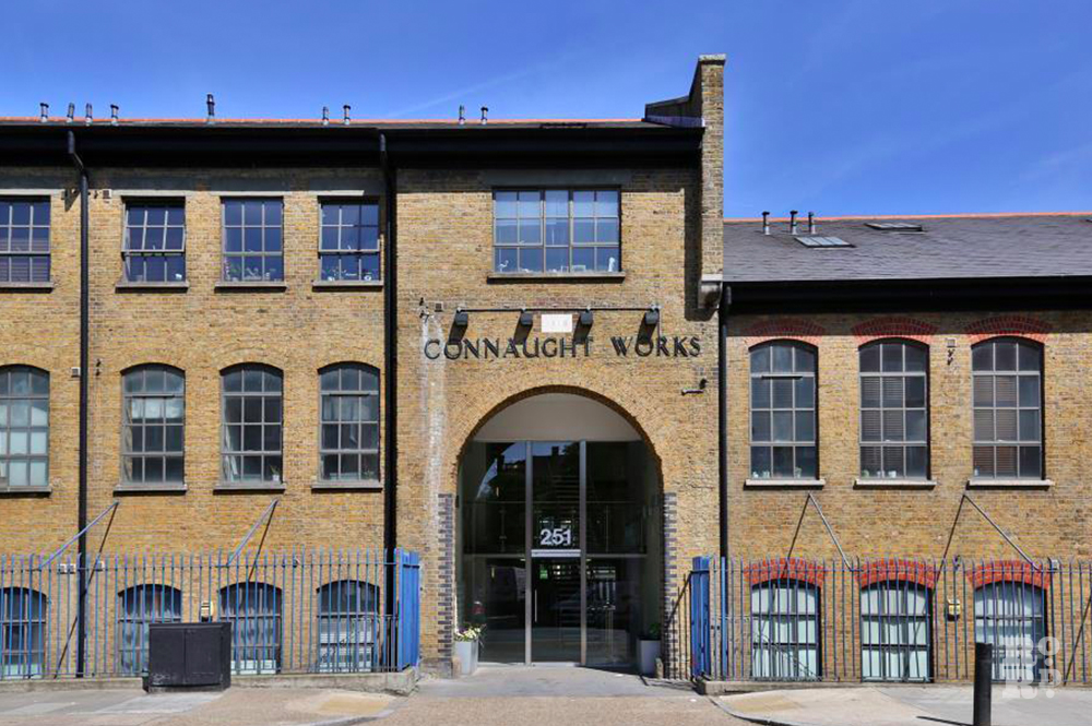 Connaught Works converted East End warehouses on Old Ford Road in Bow.