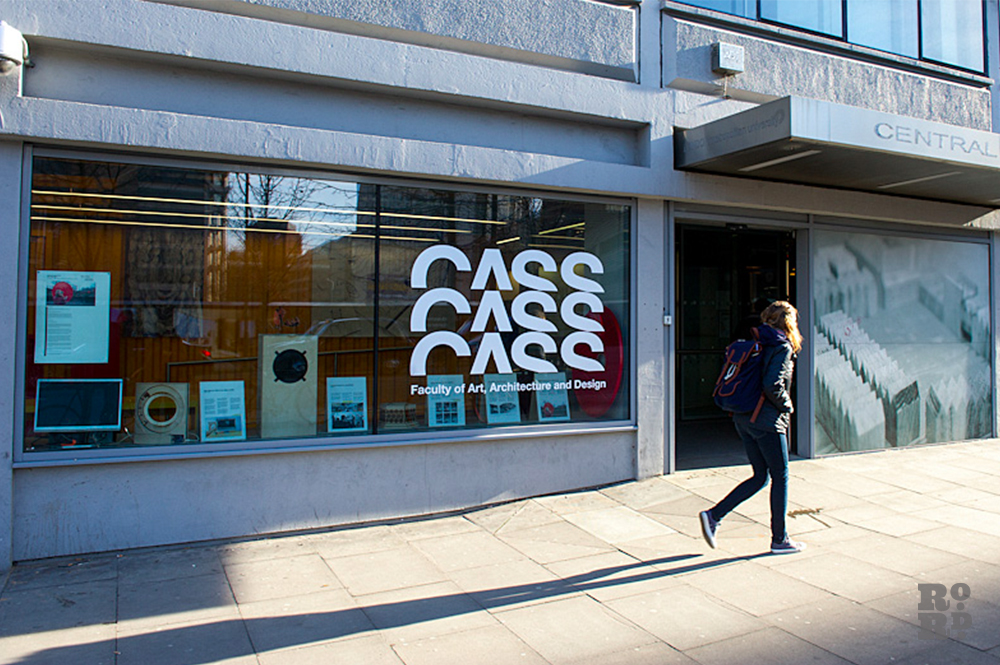 Photograph of entrance to East London's Cass School of Art, Architecture and Design