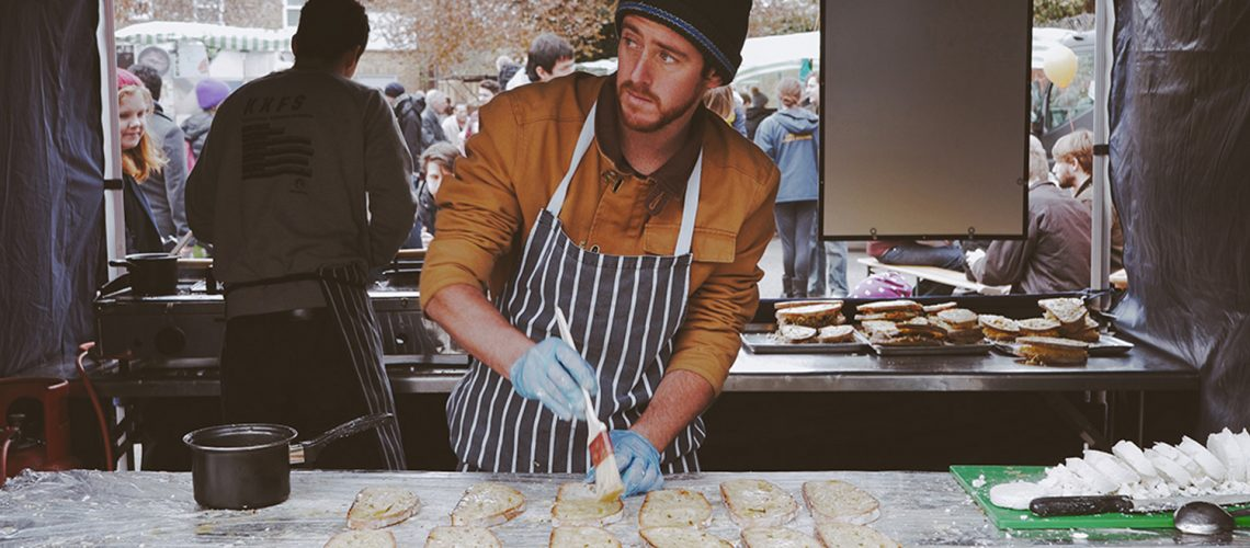 Cheesetruck at Roman Road Yard Market launch event