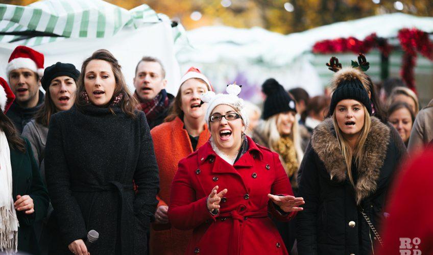 Big Sing Choir at Roman Road Christmas Fair 2016 © Roman Koblov