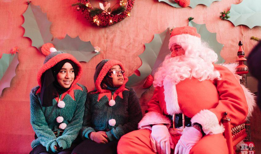 Santa and his elves at Roman Road Christmas Fair 2016 © Roman Koblov