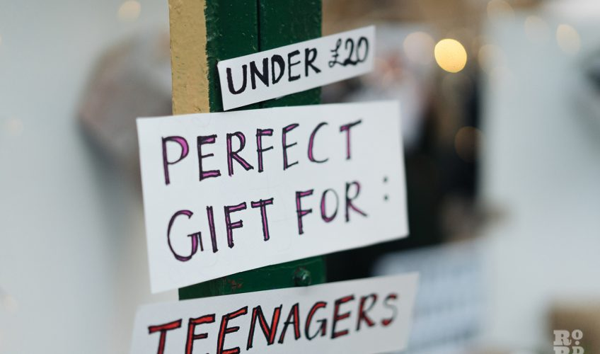 Perfect gifts for teenagers at Roman Road Christmas Fair 2016 © Roman Koblov