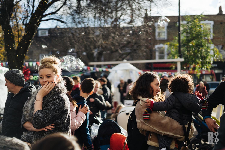Crowds at Roman Road Christmas Fair 2016