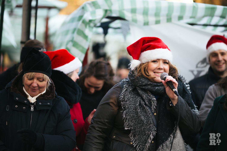 Carol singers at Roman Road Christmas Fair 2016
