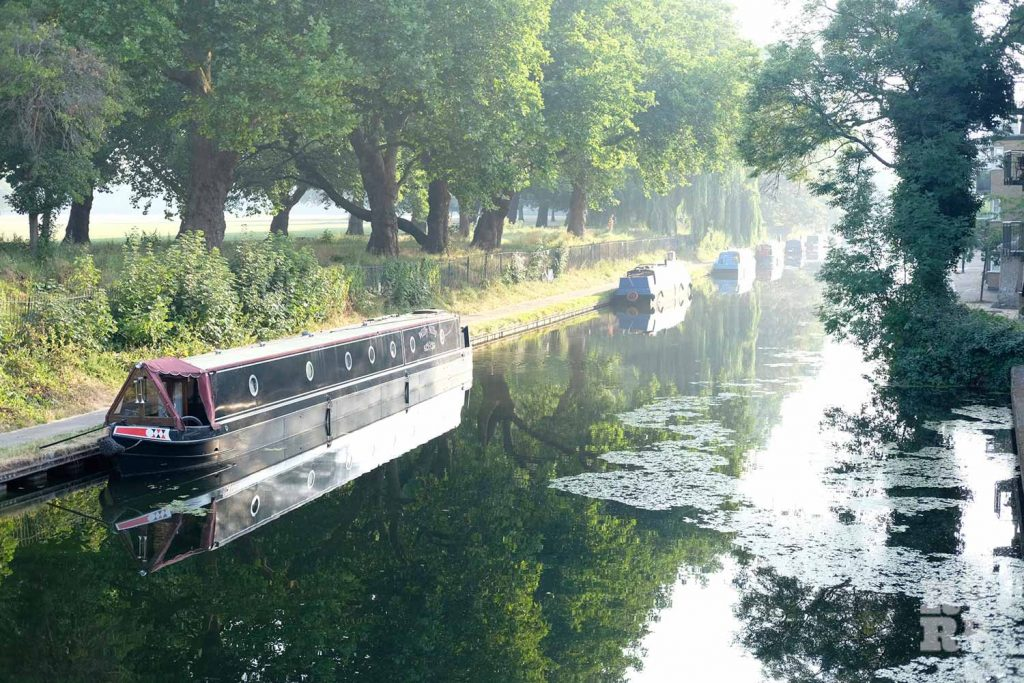 A canal alongside Victoria Park