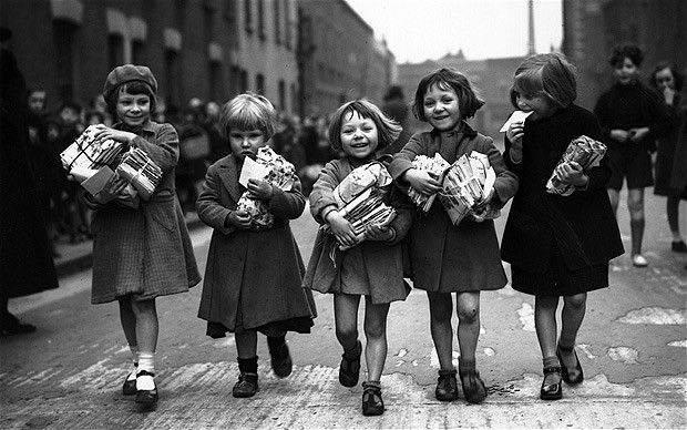 Clara Grant Farthing Bundles for the East End children 1939