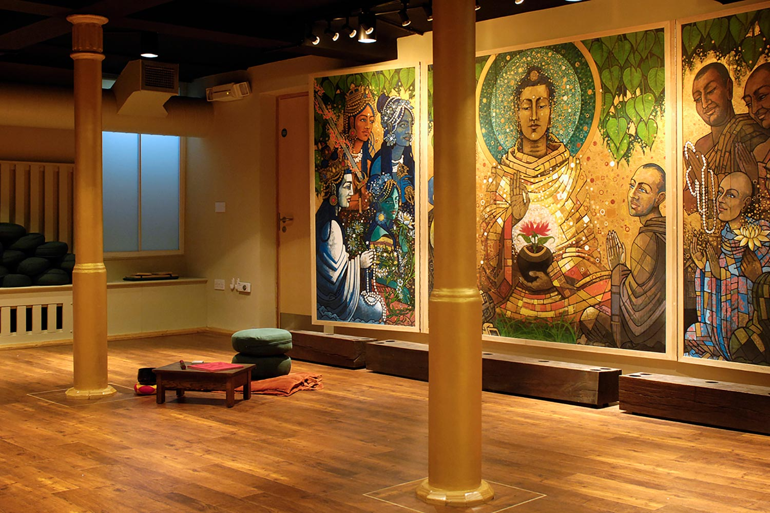 Meditation room at London Buddhist Centre