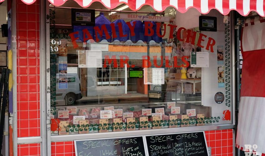 Shop front of Mr Bulls family butcher