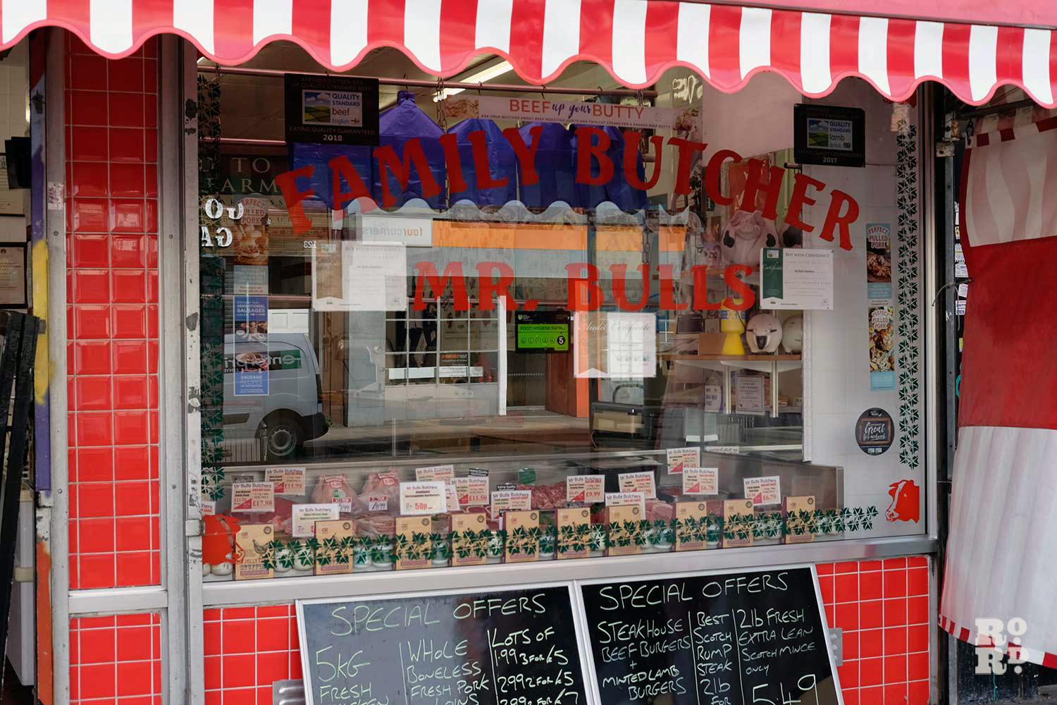 Shop front of Mr Bulls family butcher