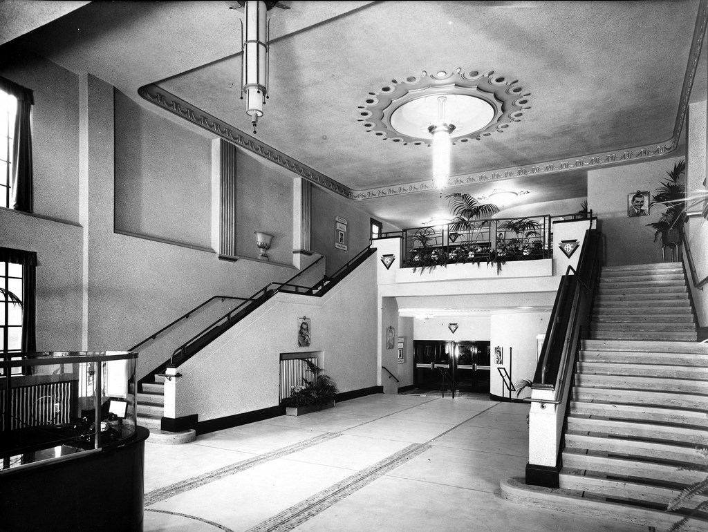 Archive image of the interior of the ABC Genesis Cinema in Mile End, in 1937