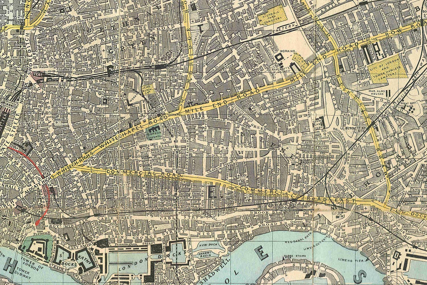 The East End in 1882.