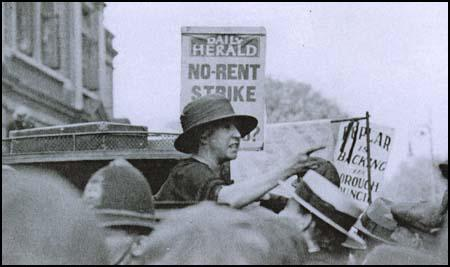 Bow Suffragette, Julia Scurr, at a rally in Poplar