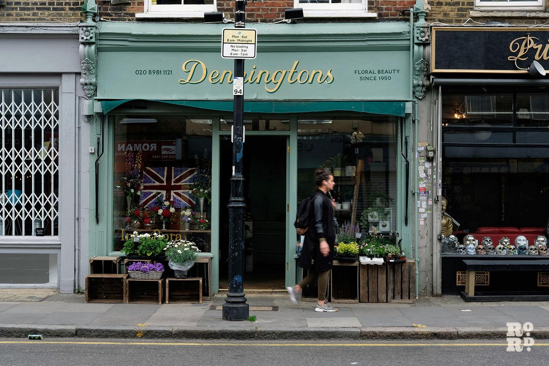 Exterior of Denningtons florist, Roman Road, Bow