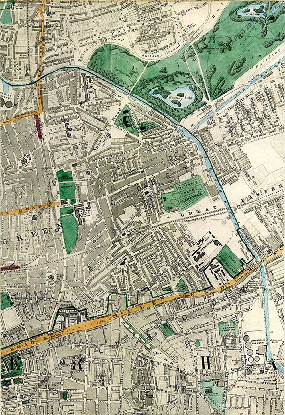 Old maps of Bow and the East End | Roman Road London