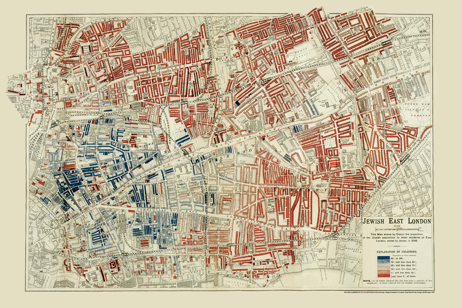 Map of Jewish east London from 1899