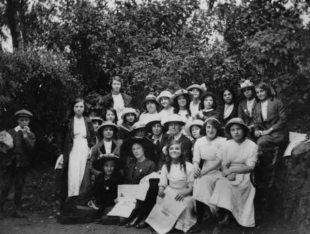 Archive image of Junior Bow Suffragettes in Victoria Park, in East London