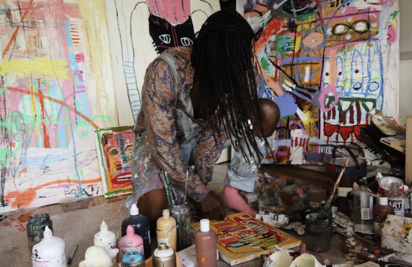 Photograph of Adébayo Bolaji, an artist at MAKEMORE festival