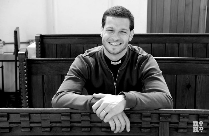 Reverend James Hughesdon, making the church accessible to all
