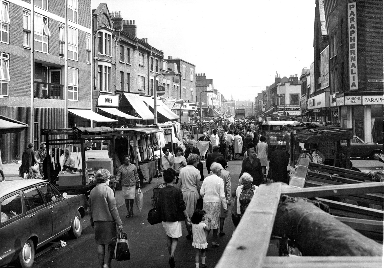 Archive image of Roman Road Market, East London