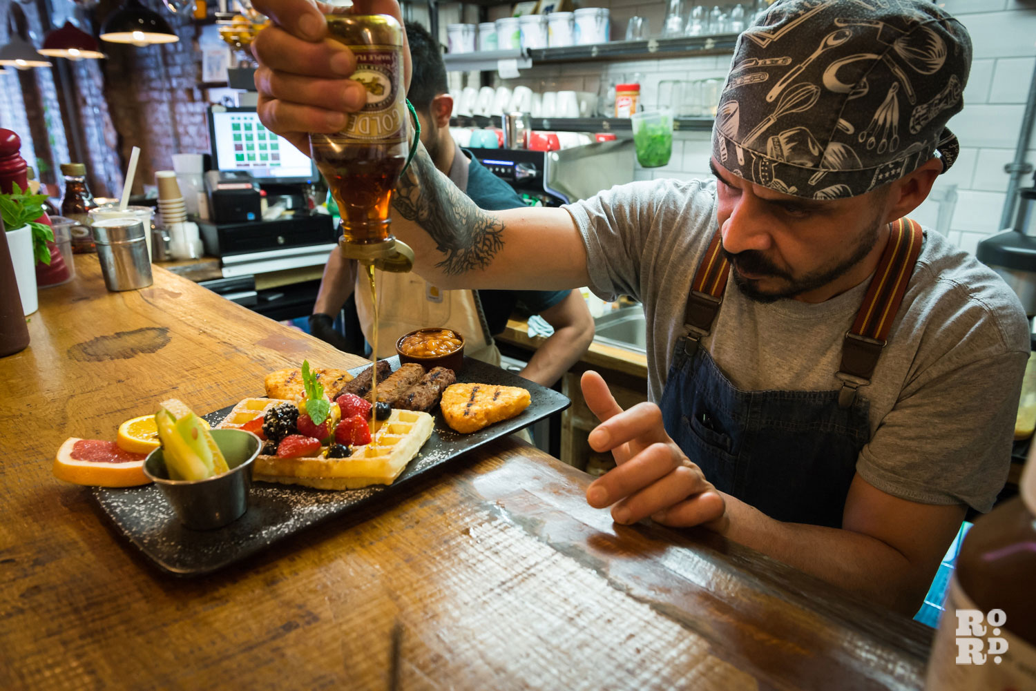 Chef makes brunch cafe east roman road