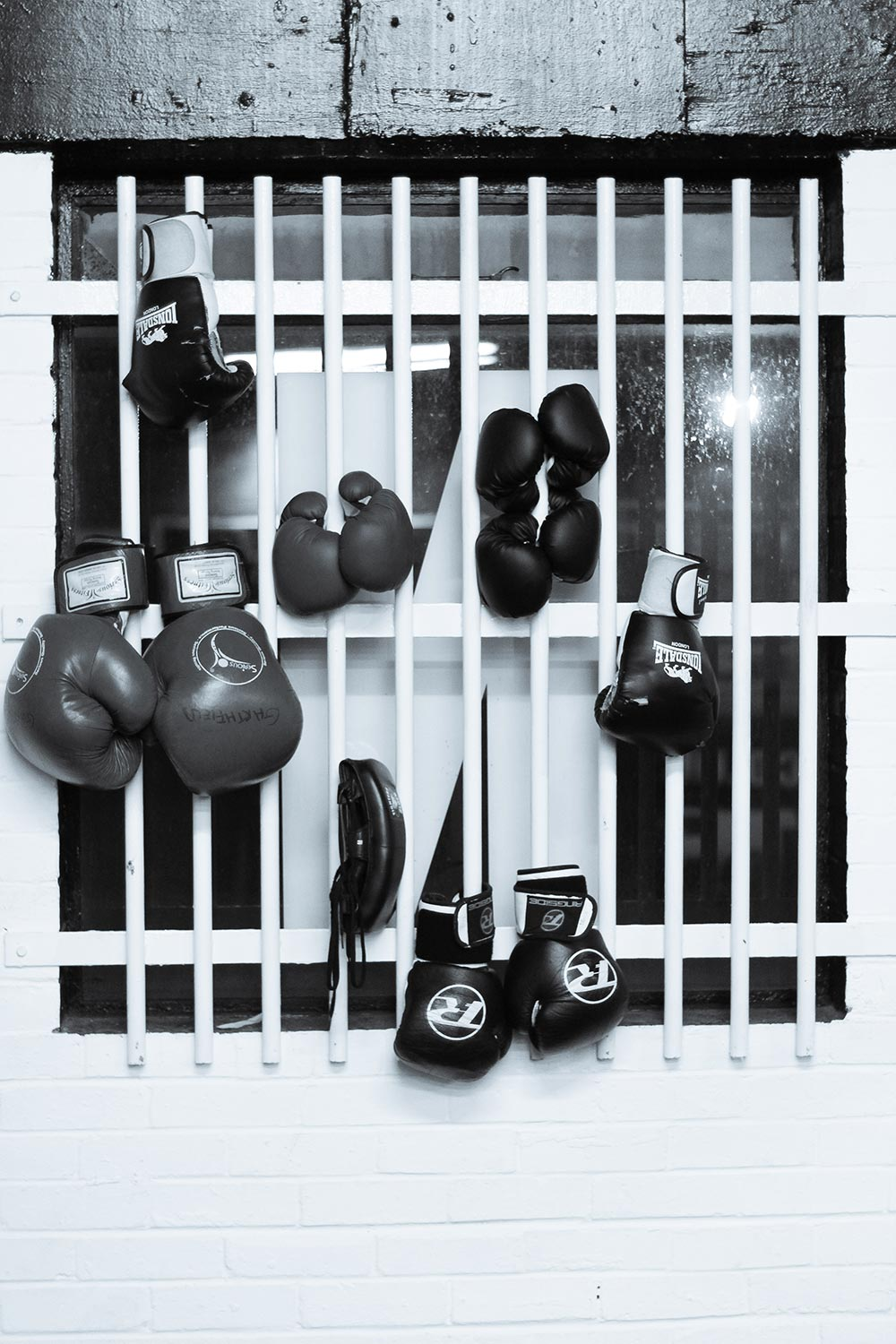 Boxing gloves at Factory East