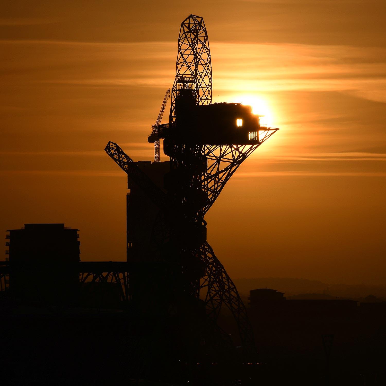 Olympic park orbit sunrise