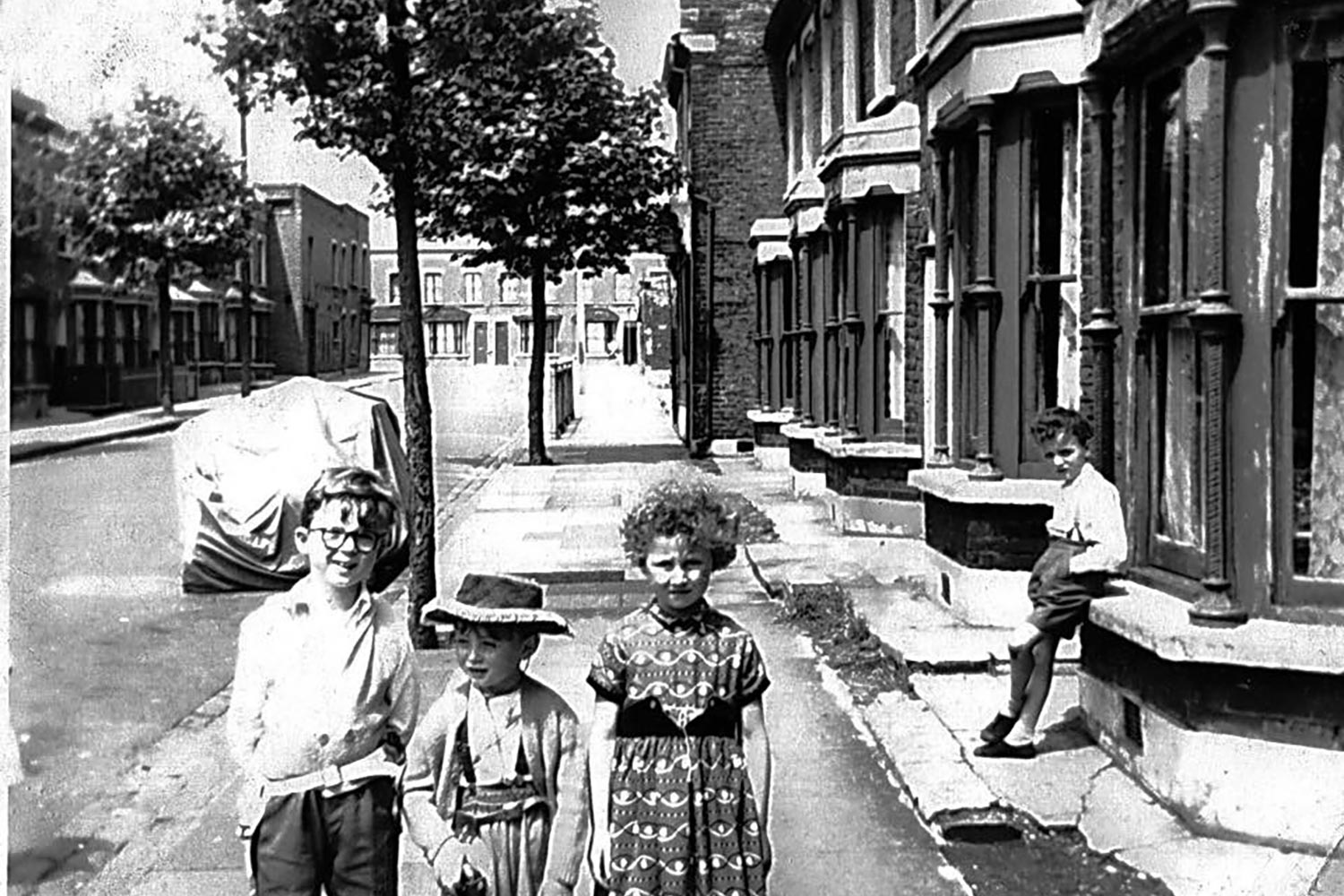 Archive image of kids on Dace Road Fish Island