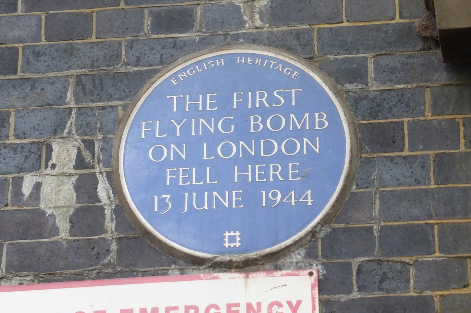 flying bomb plaque mile end world war two
