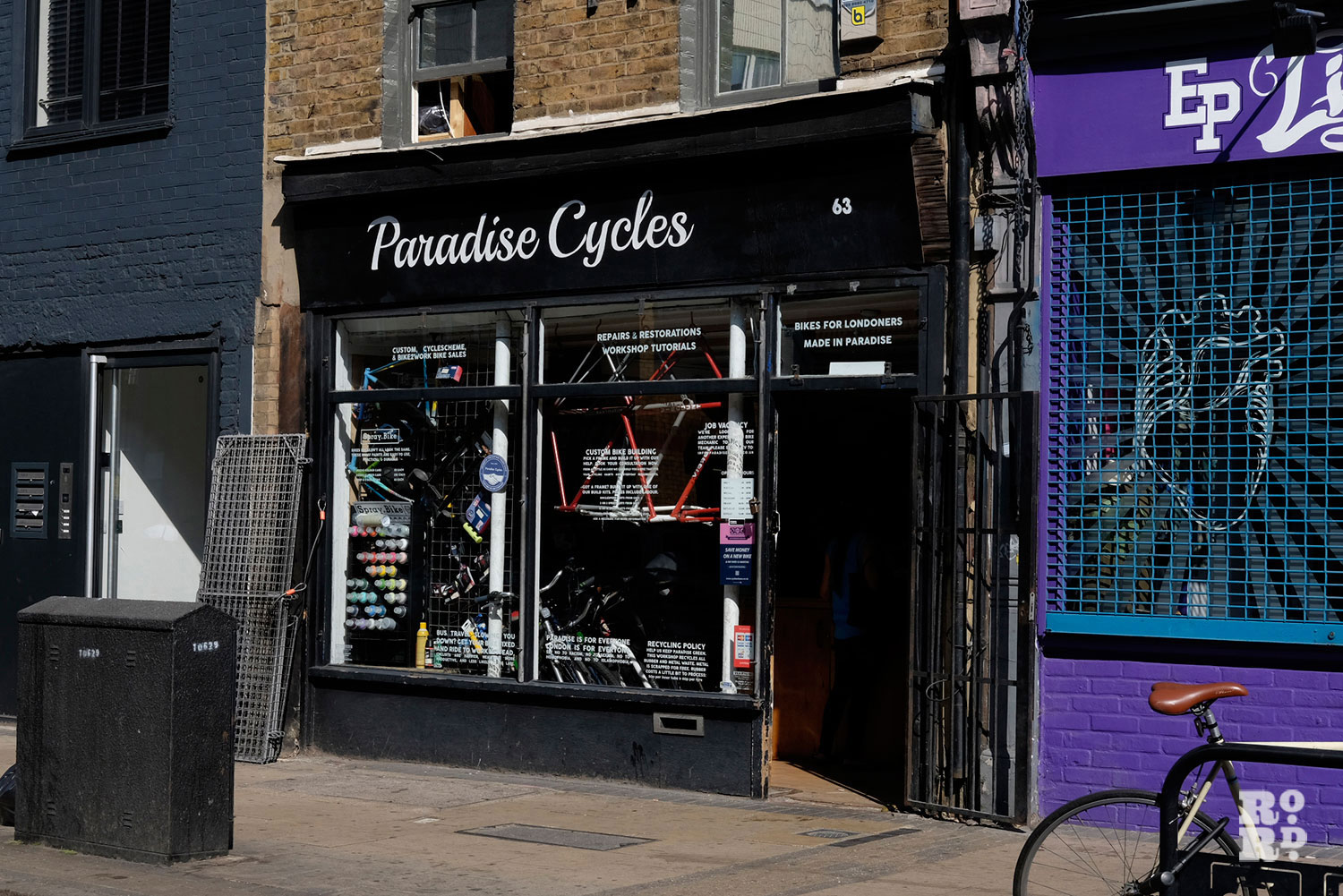 paradise cycles roman road shopfront