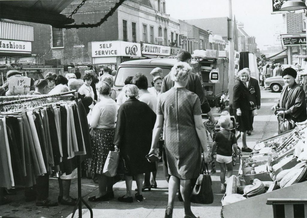 Roman Road market in the 1960s