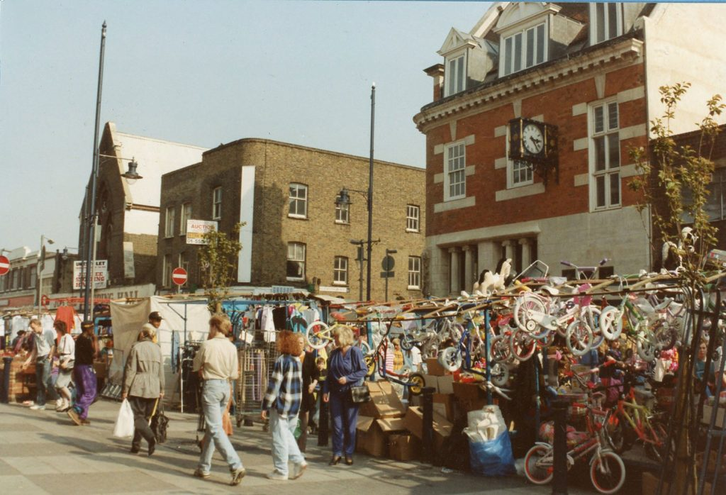 Photograph of Roman Road Market 1990