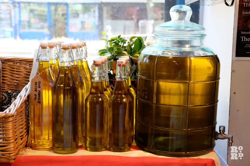 Photograph of their homemade olive oil