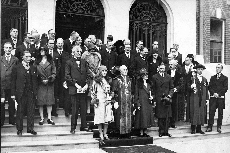York Hall opening 1929