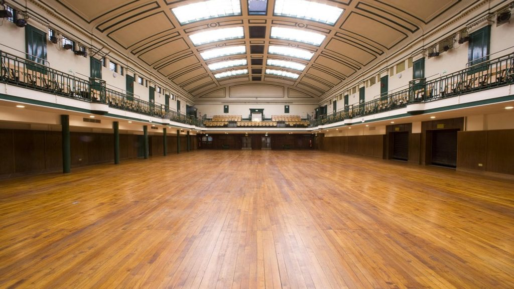 Photograph of the hall at York Hall