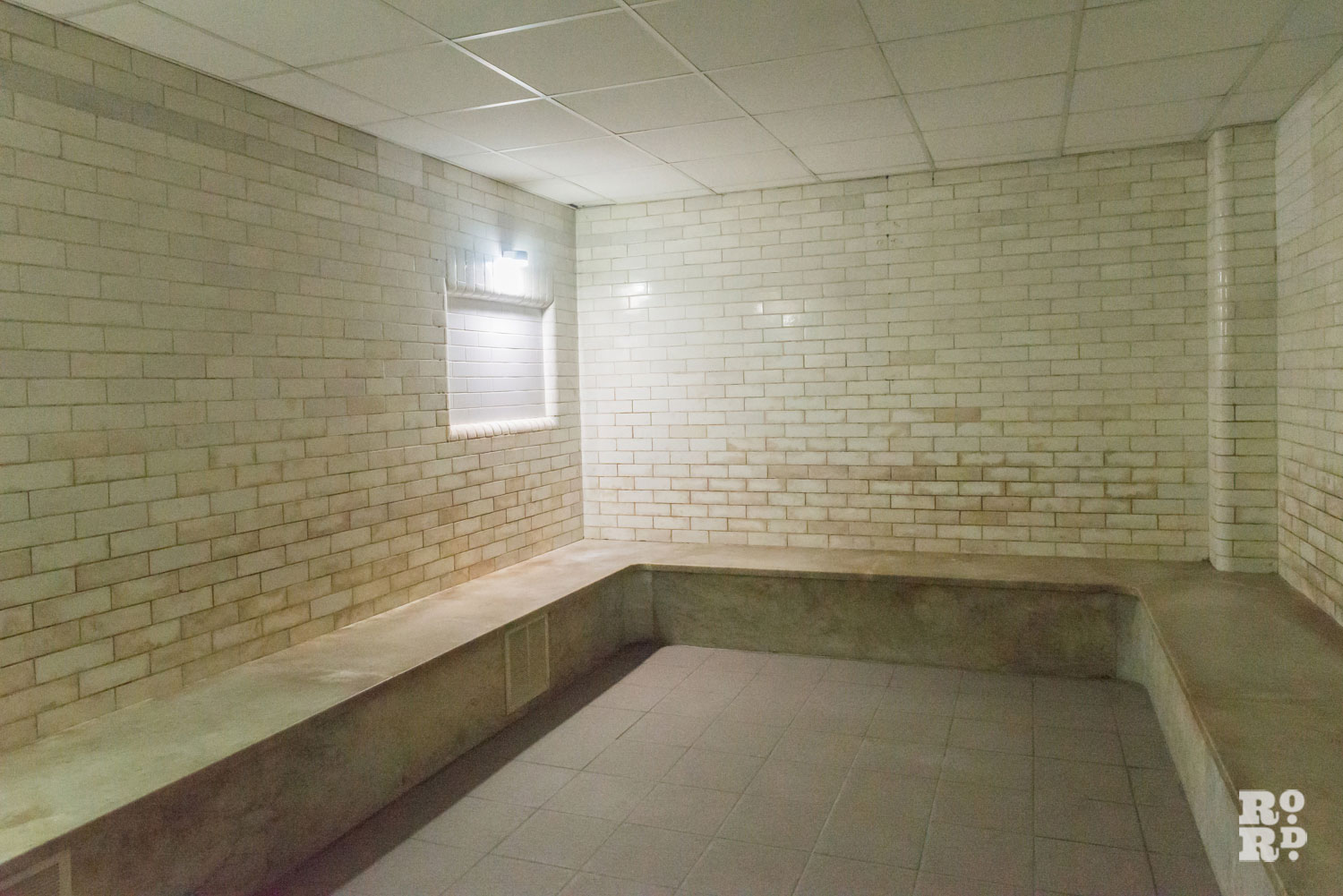 Photograph of old brick Turkish hot room
