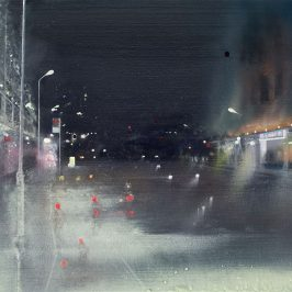 Blurred view of Roman Road by night