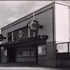 mile end tube station entrance 1950s