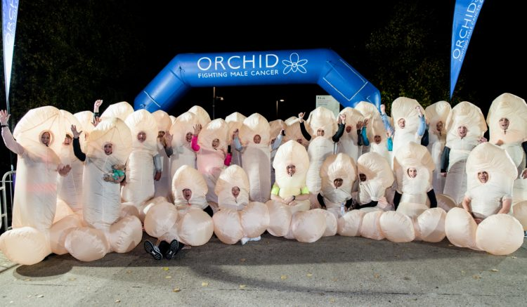 Fun runners for Orchid in their Willy costumes