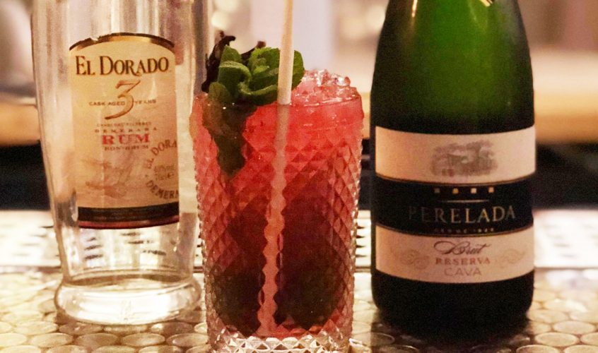 Chiringuito's signature cocktail – the Chirinjito – a Mojito with a twist