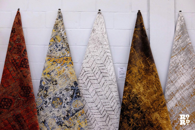 patterned carpet samples
