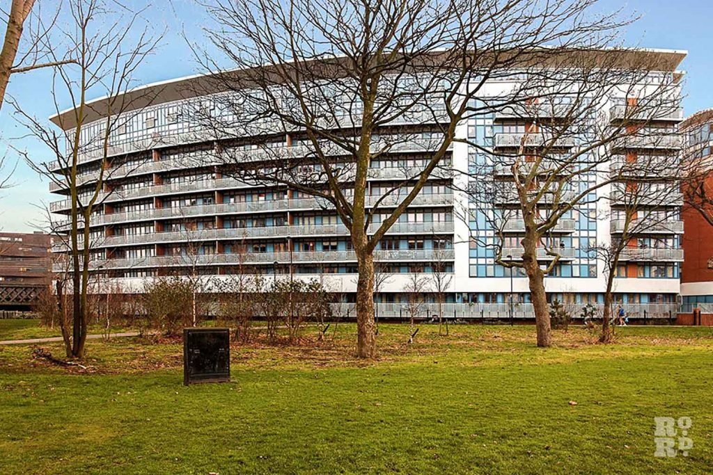 View of Leamore Court building in Meath Gardens East London