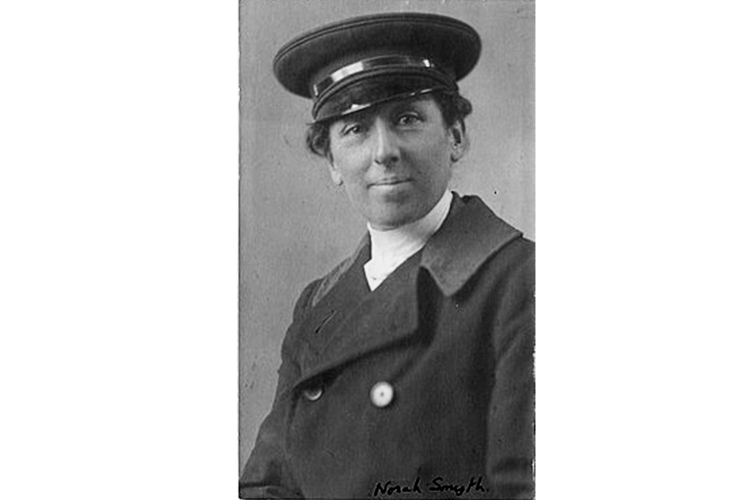 Photograph of Norah Smyth, Bow suffragette, photographer and chauffeur to Sylvia Pankhurst