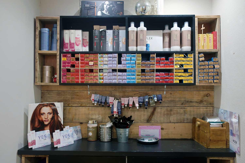 Colour counter at Reid's hair salon on Roman Road