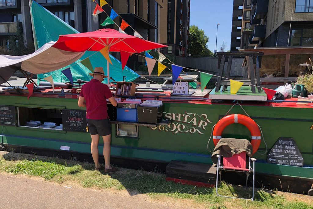 A funky boat bookshop on Regents Canal