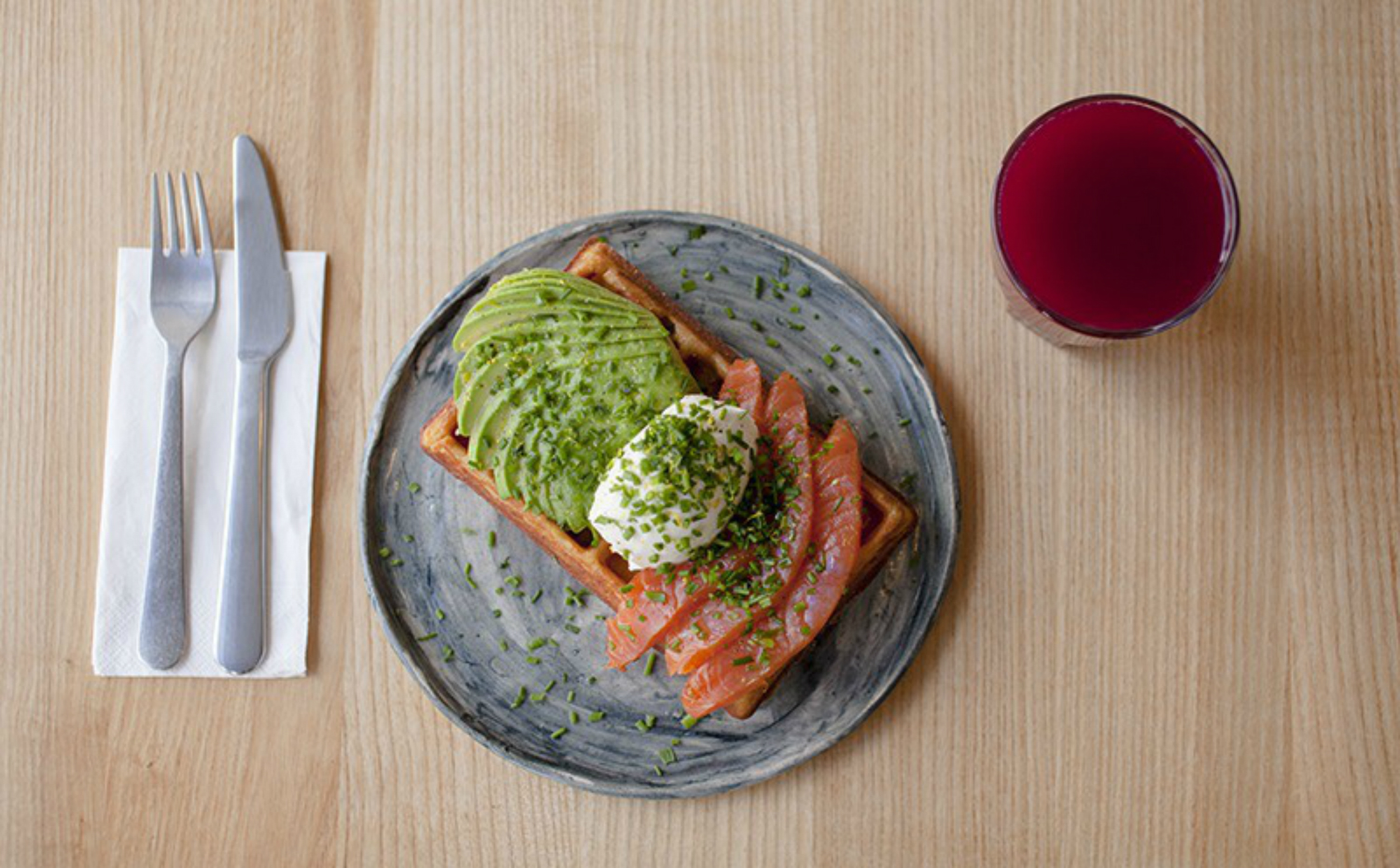 salmon and avo on toast