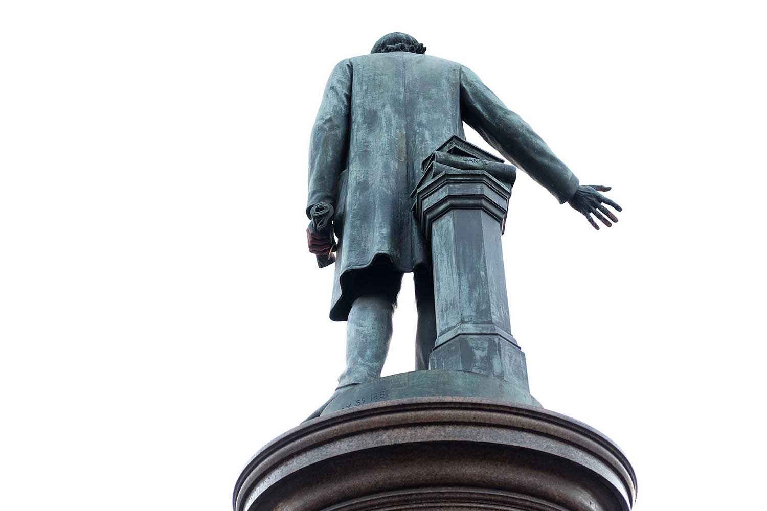 William Gladstone statue from behind